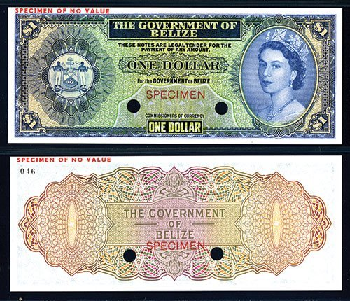 2017: Government of Belize 1974-76 Issue Color Trial Ba