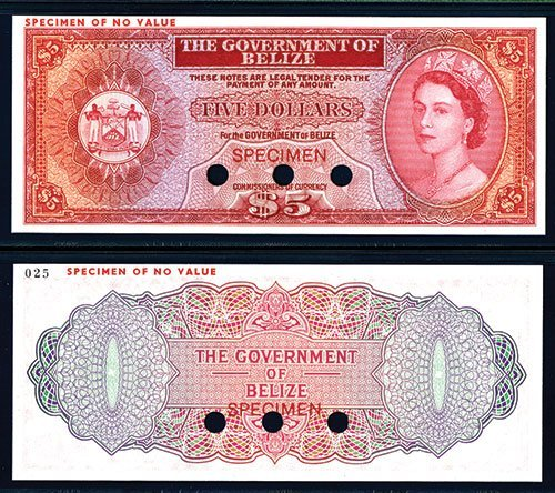 2019: Government of Belize 1974-76 Issue Possible Color