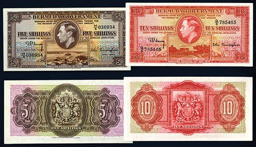 2020: Bermuda Government, 1937 Issue Banknote Pair.