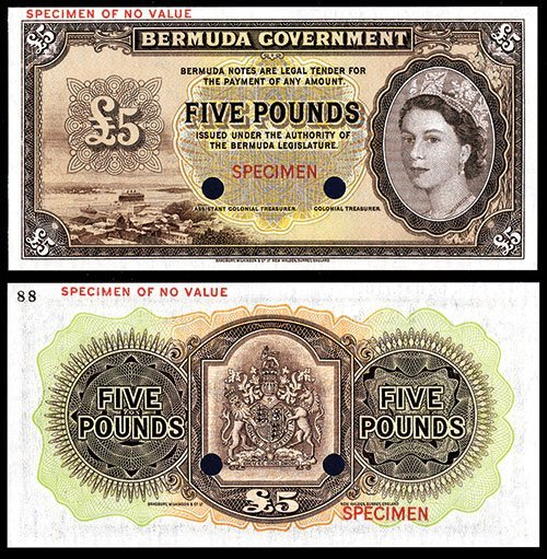 2021: Bermuda Government, 1952 Issue Color Trial.