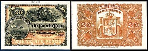 2371: Banco Espanol De Puerto Rico, ND (1889) Issue Pro