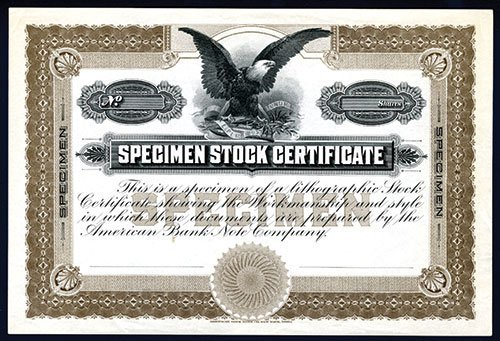 Abnc Specimen Stock Certificate Sample.