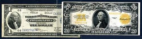 2747: U.S. Gold Note, 1922, $20, Fr.1187 and F.R.N., Na