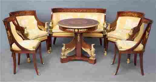 Empire Sitzgruppe mit Tisch
