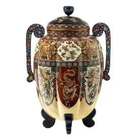 Importante e raro vaso con coperchio, attribuito alla