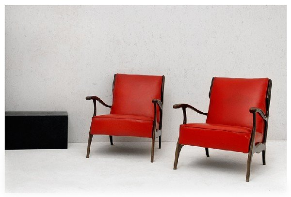 1: Pair of armchairs. 1950 ca.