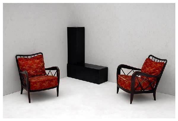 2: Pair of armchairs. 1940 ca.