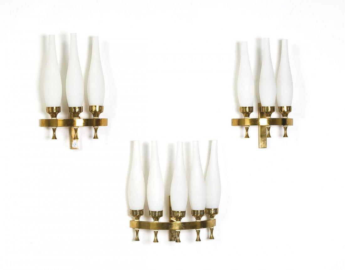 Tre lampade da parete