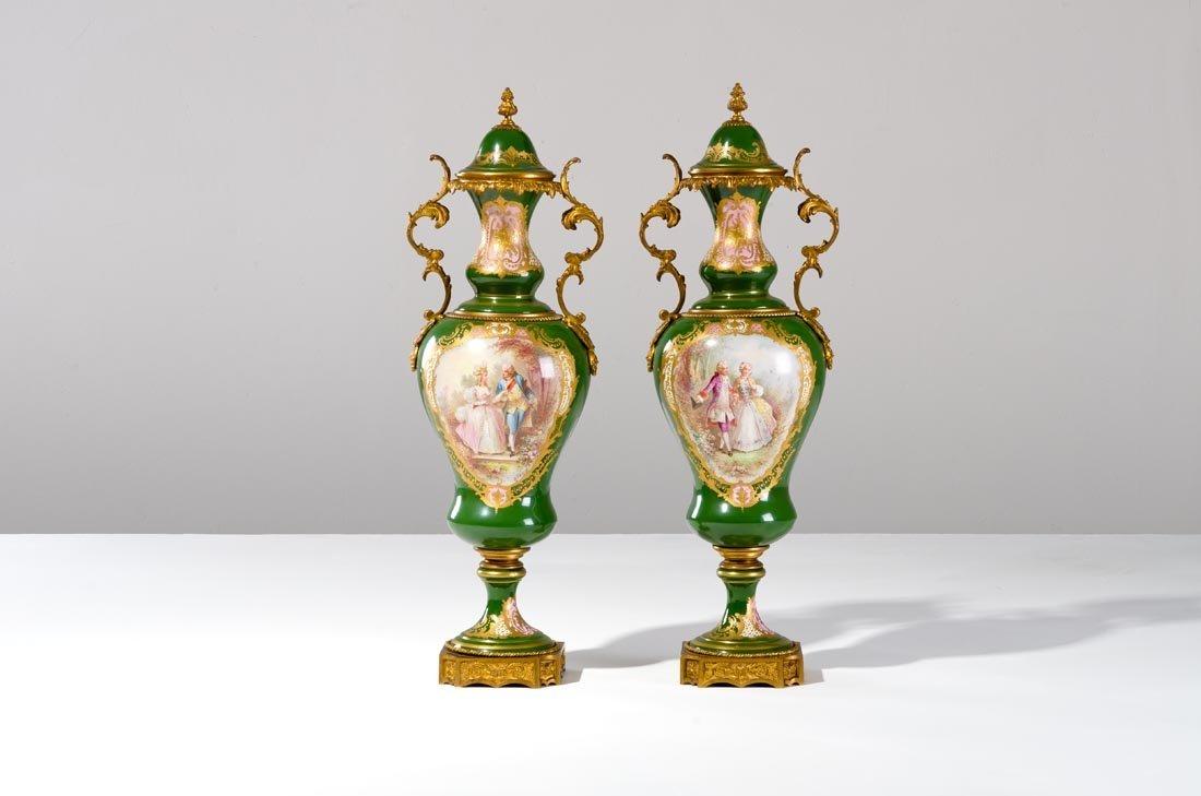 Coppia vasi porcellana di S?vres