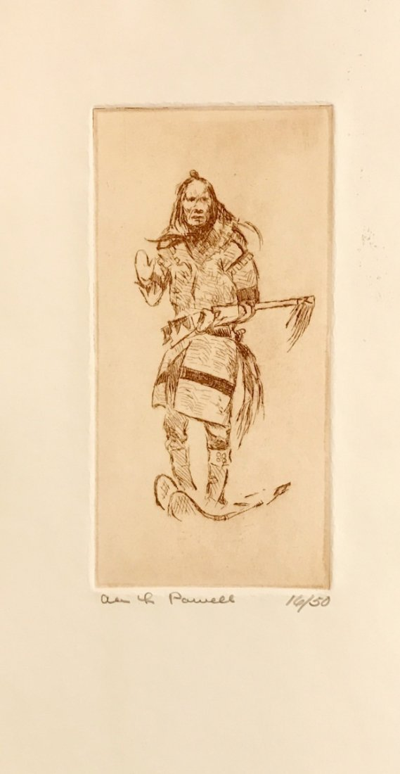 Ace Powell,  Etching,