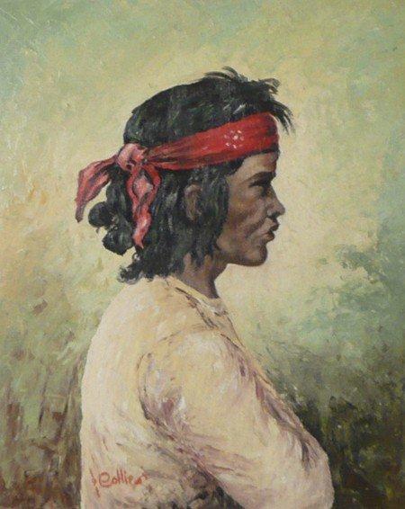 1: Johnnie Collier, Oil on Board