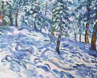 55: Charles Rockey, Oil on Canvas