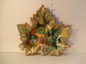 1: Van Briggle Maple Leaf Candy Dish