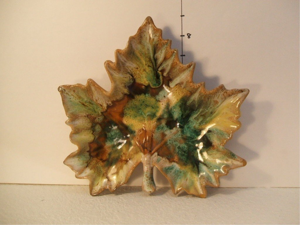 1: Van Briggle Maple Leaf Candy Dish