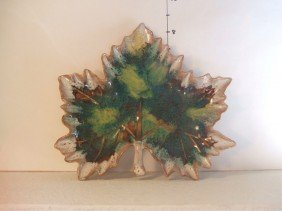 2: Van Briggle Maple Leaf Candy Dish