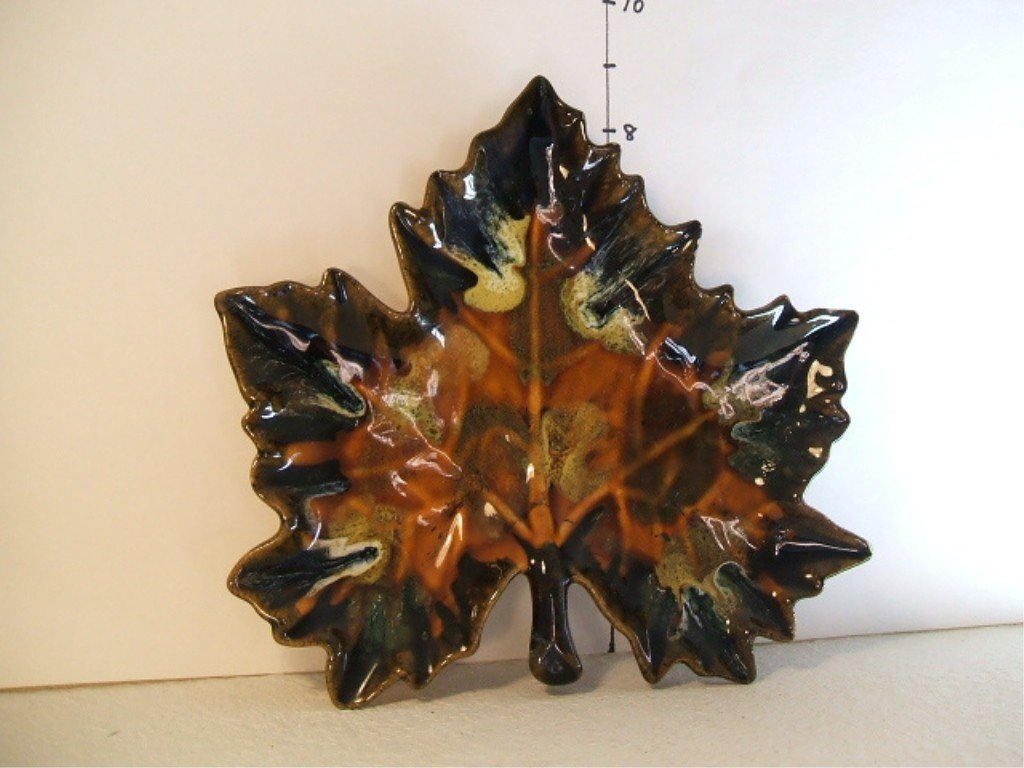 3: Van Briggle Maple Leaf Candy Dish