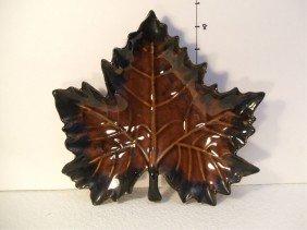 Van Briggle Maple Leaf Candy Dish