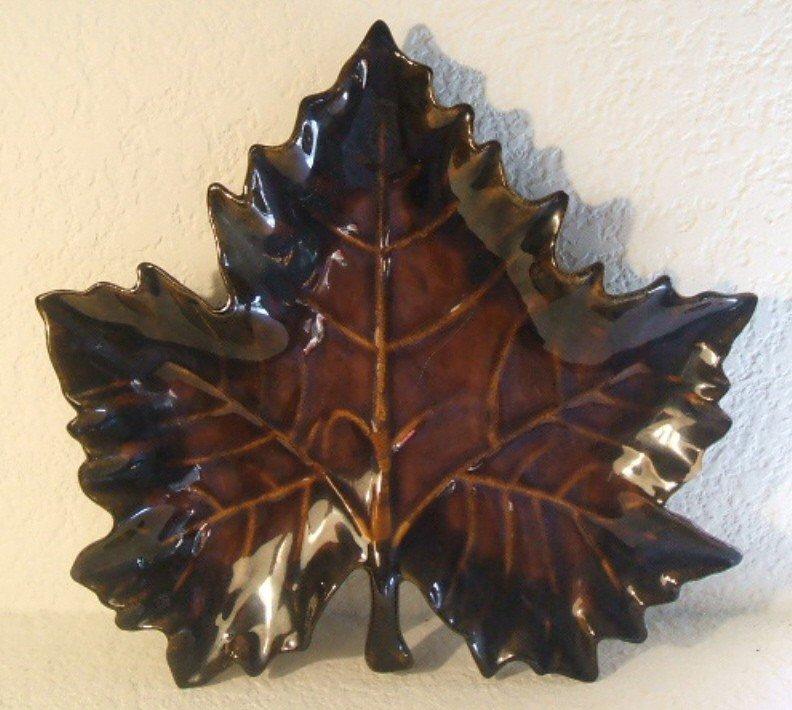 "5: Van Briggle Maple Leaf Candy Dish, ""Anna Van"""