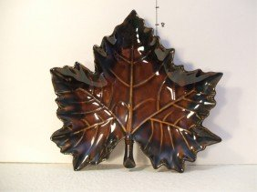 6: Van Briggle Maple Leaf Candy Dish