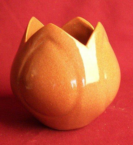 9: Van Briggle Tulip Form Vase, Brown
