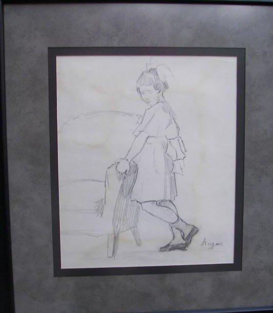 15: Ruth Monroe Augur, Pencil Drawing