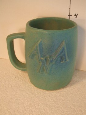 19: Van Briggle Mug with Raised ANA Logo