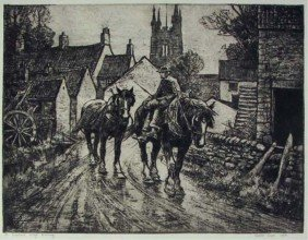 Leslie Cope Etching