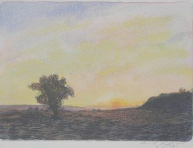 17: Louis L. Stephenson Colored Etching