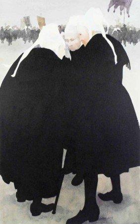22: Jeanne Dobie Stone Lithgraph