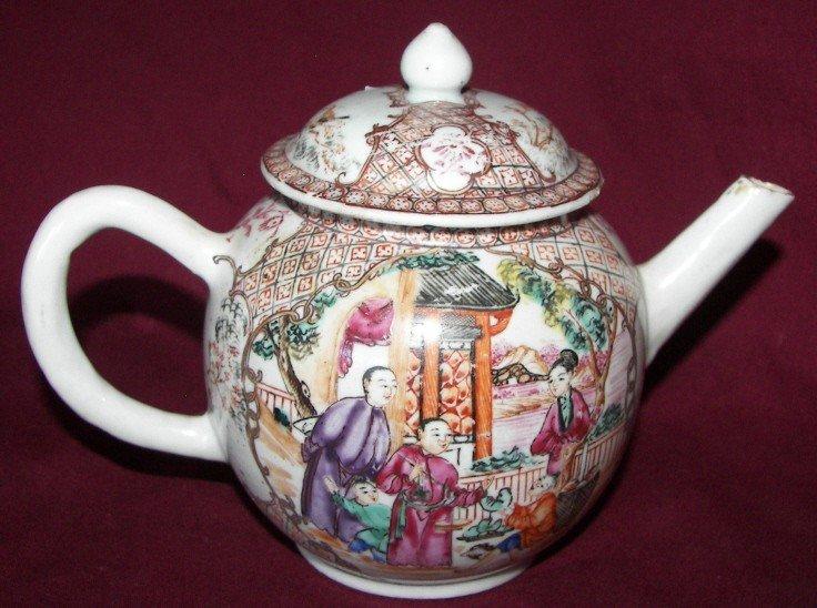 48: Chinese Export Tea Pot