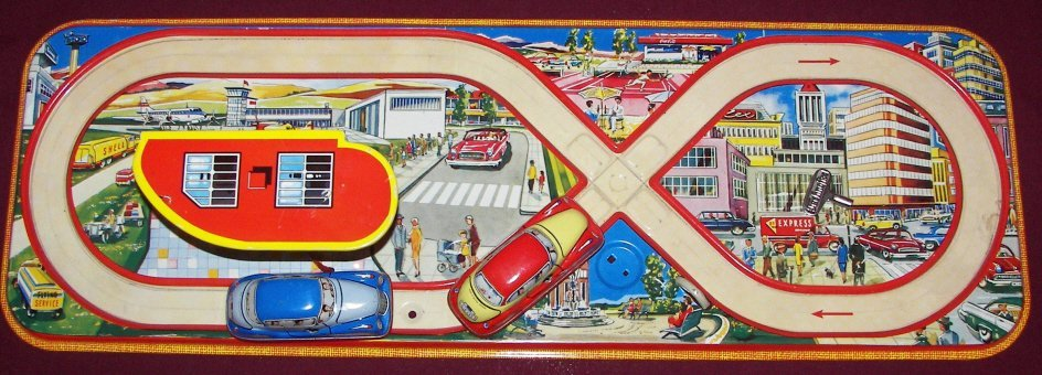 6: Technofix 299 Tin Litho Toy Racetrack