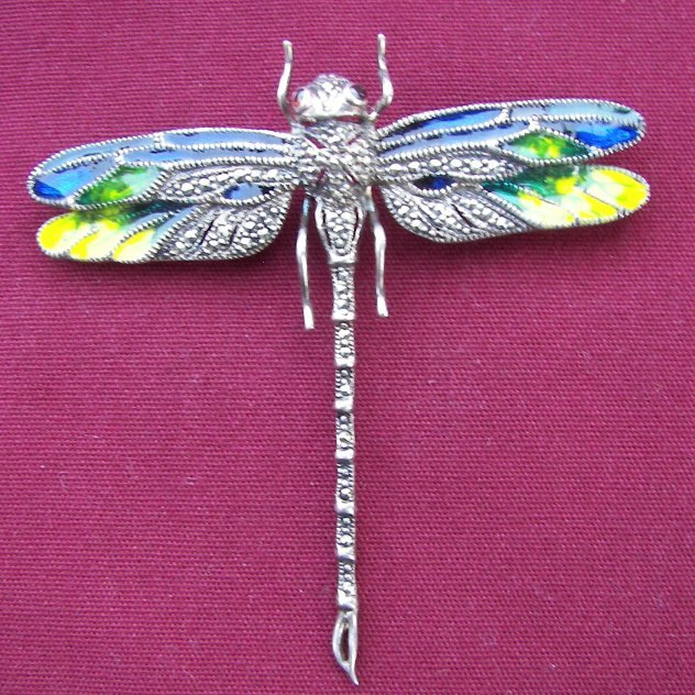 10: Sterling Dragon Fly Broach