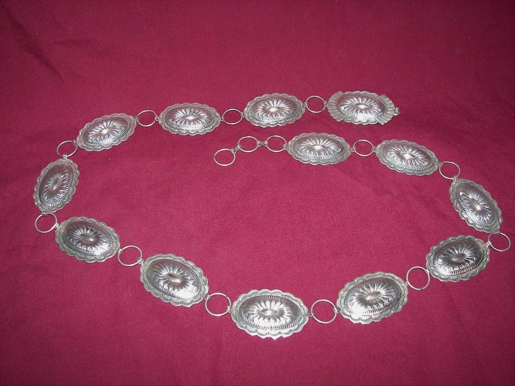 13: Silver Concho Belt