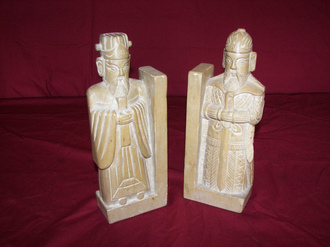 3: Thai Bookends, Set of 2 Soapstone