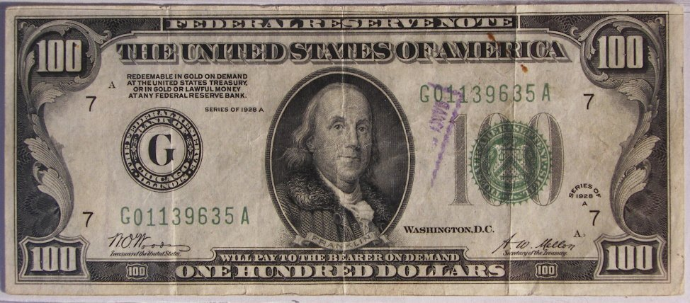 4: $ 100 Bill, Gold Certificate