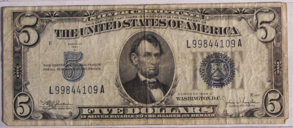 6: $ 5 Bill, Silver Certificate