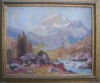 191: Ruth Minerva Bennett, Oil on Canvas