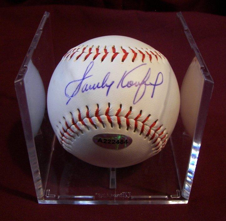 371: Sandy Koufax, Autographed Baseball,