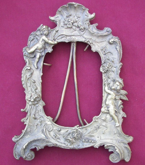 Antique Heavy French Bronze Picture Frame