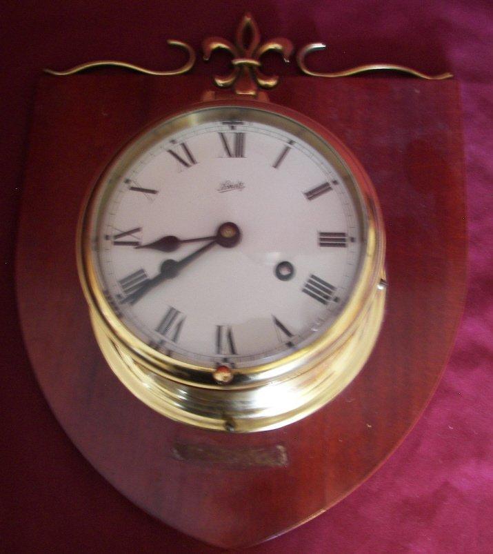 Vintage Schatz Brass Ships Clock