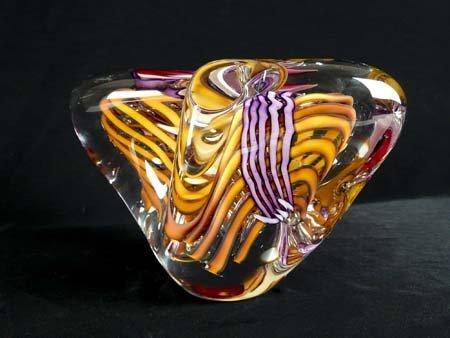 Glass Sculpture, Signed Schmidt/Rhia