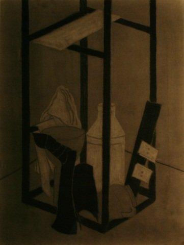 Laurence B. Field (1909-1999), Charcoal,