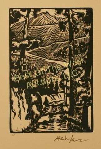 Andy Chuka, Linocut Block Prints, - 3