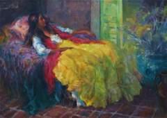 Marilyn Bendell (1921-2003), Oil on Canvas,