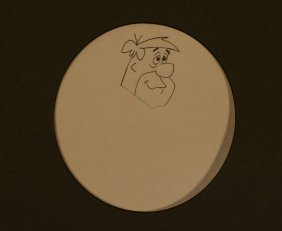 Unpainted Flintstone Animation Still, Unknown,