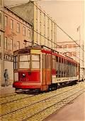 B.H. Sennstrom, Original Illustration, Streetcar,