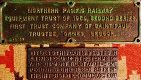 Pair Of Railroad Trust Tags,