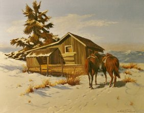 Bob Tommey (1928-), Oil On Canvas,