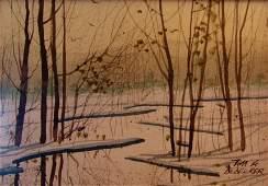 Tom A. Dedecker, Gouche Watercolor,