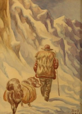 "Robert ""bob"" Hall (1898-1970), Watercolor,"